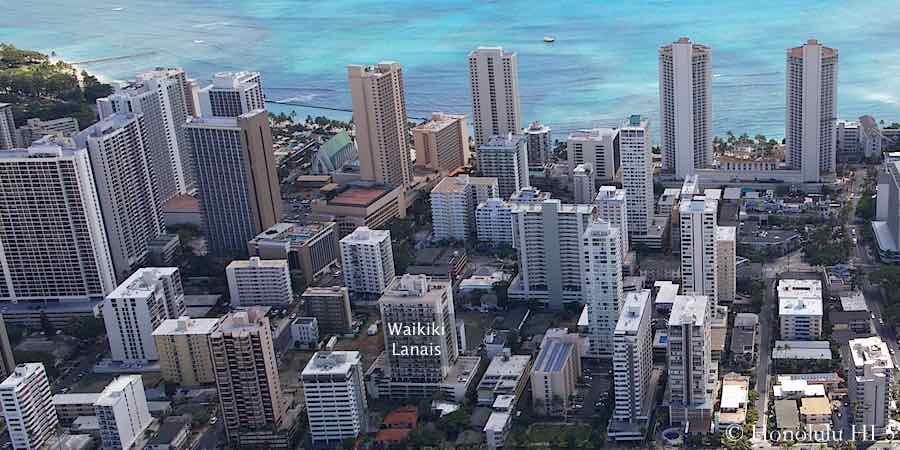 Waikiki Lanais Aerial Photo