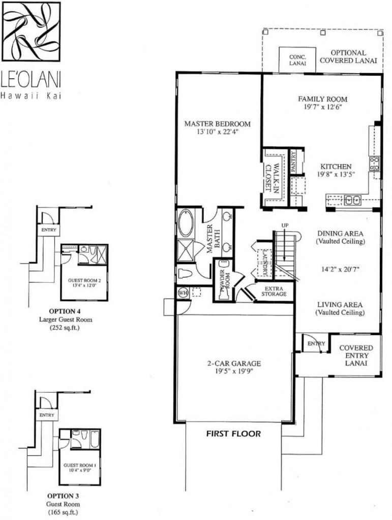 5 leolani floor plans newer hawaii kai homes for 5br house plans