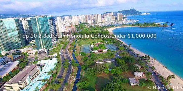 Drone Photo of Ala Moana Beach Park and Kakaako and Waikiki Condos