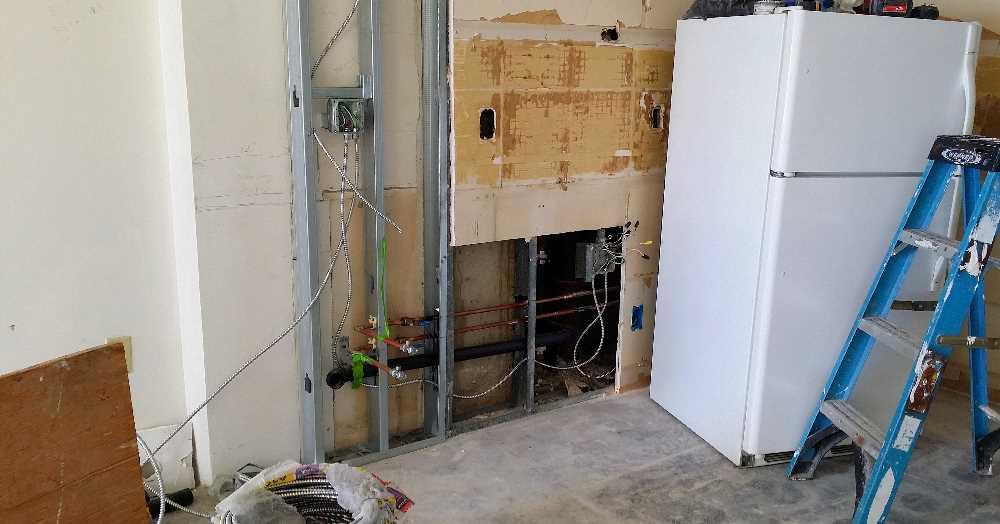 Week 4 - new relocated kitchen plumbing