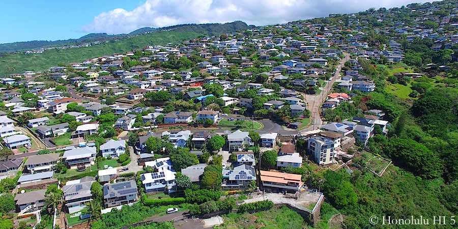 Pacific Heights Honolulu Homes - Drone Photo