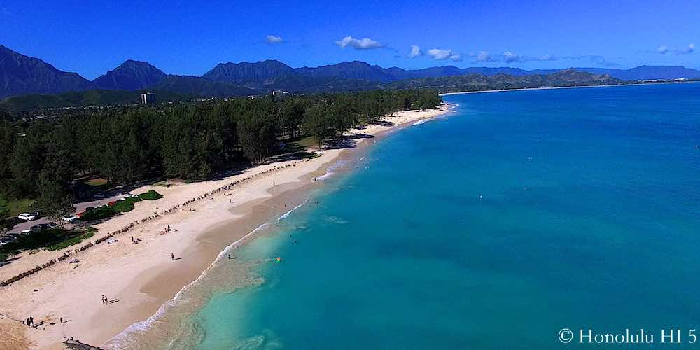 Kailua Beach Park - Drone Photo